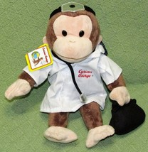 """Curious George DOCTOR Applause Russ Character Plush 13"""" Stuffed Animal T... - $14.03"""