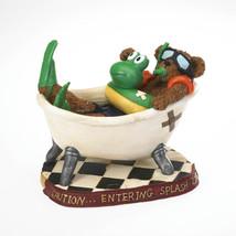 """Boyds Bearstone  """"Flipper T. Snorklebeary..Scrub A Dub Dub"""" #4022171 - 2011 - $39.99"""