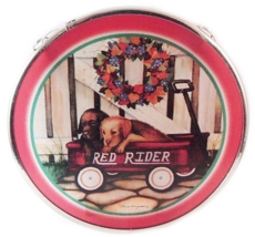 Edenborough Hand Made Glass Suncatcher Wagon PUPPIES  - $7.99