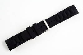 20mm Silicon Rubber Watch Band Black Strap fits Fossil  Watches  - $9.95