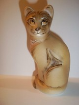 Fenton Glass Natural Lioness Female Lion Stylized Cat GSE M. Kibbe LTD E... - $183.33