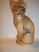 Fenton Glass Natural Lioness Female Lion Stylized Cat GSE M. Kibbe LTD E... - $183.33