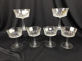 (6) Vintage Luminarc France Glass Crystal Champagne Goblets Stemware Cle... - $39.99