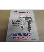 1997 Johnson Evinrude Fuoribordo 2 Thru 8 Servizio Manuale 507261 OEM Barca - $19.92