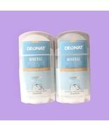 2 PACK Deonat Natural Mineral Deodorant Stick Anti Bacteria 100g  - $28.21