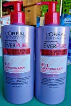 Lot 2 L'oreal Paris EverPure 6 in 1 Cleansing Balm 16.9 oz SULFATE-FREE - $22.43