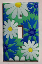 Blue White Flowers patterns Light Switch Outlet wall Cover Plate Home Decor - $2.85 - $18.04