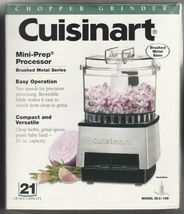 Cuisinart DLC-1SS Mini-Prep Processor Brushed Stainless Steel NEW IN SEALED BOX image 3