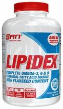 SAN Nutrition Lipidex Complete Omega & CLA Formula, 180 Softgels, New - $29.09