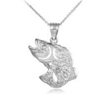 925 Silver Sea Bass Pendant Necklace - €18,02 EUR+