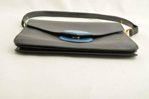 LOUIS VUITTON Epi Free Run Shoulder Bag Black Blue M52415 LV Auth 9735 image 8