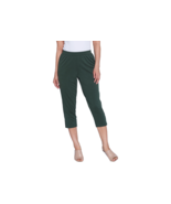 H by Halston Petite Brushed Modal Pull-On Cropped Pants,Cypress ,PM,NEW ... - $12.86