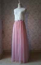 Pink Long Tulle Skirt Bridesmaid Tulle Skirt High Waisted Bridesmaid Outfit image 9