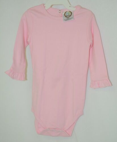 Blanks Boutique Pink Long Sleeve With Ruffle Bodysuit 12 Months