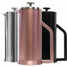 Lafeeca Stainless Steel French Press Coffee Maker - Double Wall (Rose Gold) - $52.78