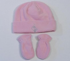 Baby Phat Girlz Pink Fleece Winter Hat & Mittens Infant One Size 9-18 Mo... - $24.74