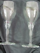 Lot of 2 Arctic Lights Cordial Glass Mikasa Height: 7 in Width: 1 3/4 in - $113.99