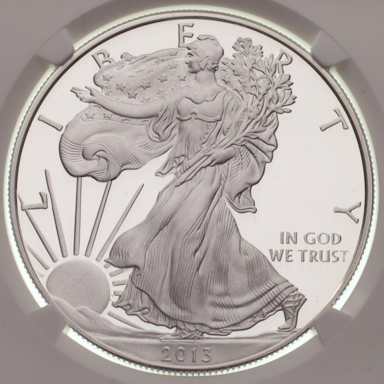2013-W Silber American Eagle Beweis Ausgewählten von NGC As PF70 Ultra Cameo image 3