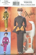Vogue Doll Collection Sewing Pattern 7382 Madra Dolls Dresses Circa 1950 - $17.99