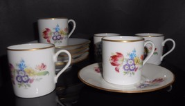 Rosenthal Demitasse Cups & Saucers Floral Flowers Set Of 5 Germany - $47.50