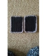 Handmade crochet Potholders Black And Gray - $10.99