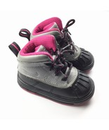 NIKE 524878-003 Woodside 2 High Toddler Baby Boots Sneakers 5 Black Pink... - $16.99