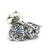 .40Ct Round Brilliant Cut Simulated Diamond Stud Earrings 14K White Gold... - £30.75 GBP