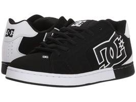 Mens Dc Net Se Skateboarding Shoes Nib Black Black White (Blw) - $63.74