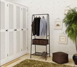 Entryway Metal Garment Rack Clothing Coat Organizer Laundry Closet Storage Decor - $45.00