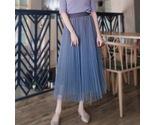 Dusty blue pleated skirt thumb155 crop