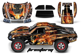 Amr Racing Rc Graphic Decal Kit Upgrade - Traxxas Slash 4X4 BODY- Firestorm Blk - $29.65