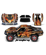 AMR RACING RC GRAPHIC DECAL KIT UPGRADE - TRAXXAS SLASH 4X4 BODY- FIREST... - $29.65
