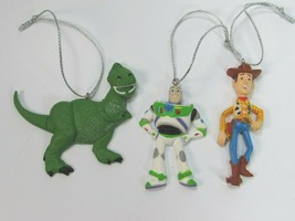 Christmas Tree Ornaments Disney Toy Story Buzz Lightyear Woody Rex 28894 - $17.81