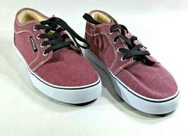 AIRWALK Mens Size 7 Sneakers Canvas Skate Shoes Purple Lace up Low top C... - $22.76