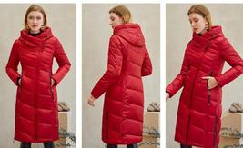 Women's  New Style Warm Solid Quilted Windproof Parka Coat image 7