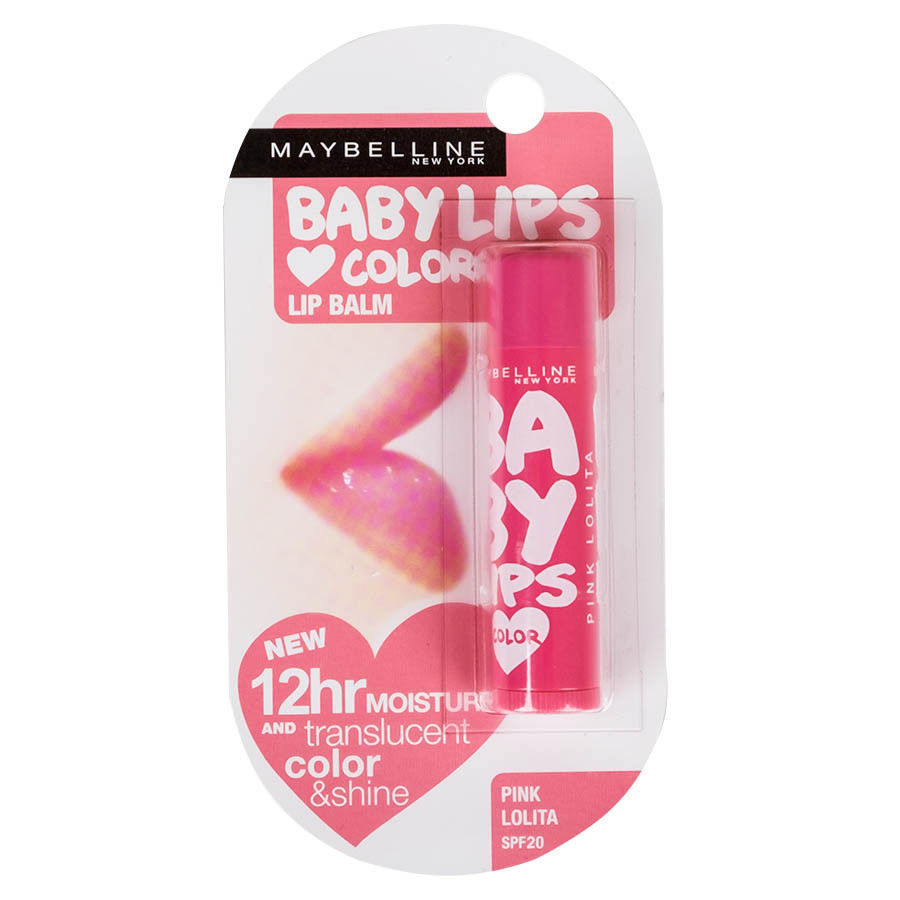 Maybelline Baby Lips Blam Translucent Color Shine Moisture SPF20 Pink Lolita Lip