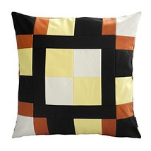 [Colorful Life] Handmade Canvas Decorative Pillow Unique Grid Cushion 48cm - $36.96