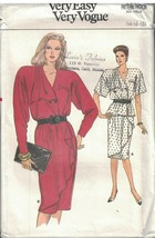 9667 UNCUT Vogue Sewing Pattern Misses Loose Fitting Top Skirt Two Piece... - $5.59