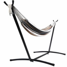 Durable Double Hammock with Steel Stand and Carry Bag Couples Romance - $97.84