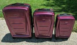 Samsonite Winfield 2 Hard Hardside 3 Piece Spinner Pink Luggage Suitcase... - $148.49