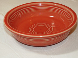 """Fiesta Homer Laughlin China Co Made in USA cereal bowl 6 7/8"""" orange to ... - $16.08"""