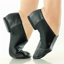 So Danca JZ43 Black Adult Size 6.5 Medium Leather Slip On Jazz Shoe - $29.99