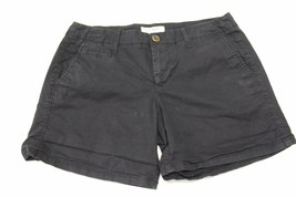 W13304 Womens OLD NAVY Black Stretch Cotton Twill CASUAL SHORTS sz 4 - $5.95