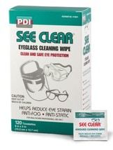 PDI D25431 See Clear Eyeglass Cleaning Wipe, Case, 12 Boxes, 1440 Wipes, - $62.35