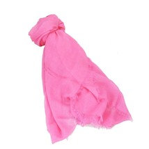 COACH Pink Signature Horse and Carriage Fringe Scarf - $79.46