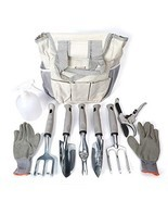 Garden Tool Set 9 Piece - Includes Garden Tote, Spray Bottle, Work Glove... - £35.38 GBP