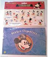 Walt Disney's MICKEY MOUSE STICKER ORGANIZER WITH STICKER SHEET Sandylion - $6.99