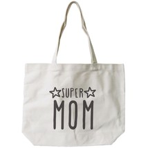 Super Mom Canvas Bag Grocery Bag Diaper bag Mothers Day Baby Shower Gifts image 1