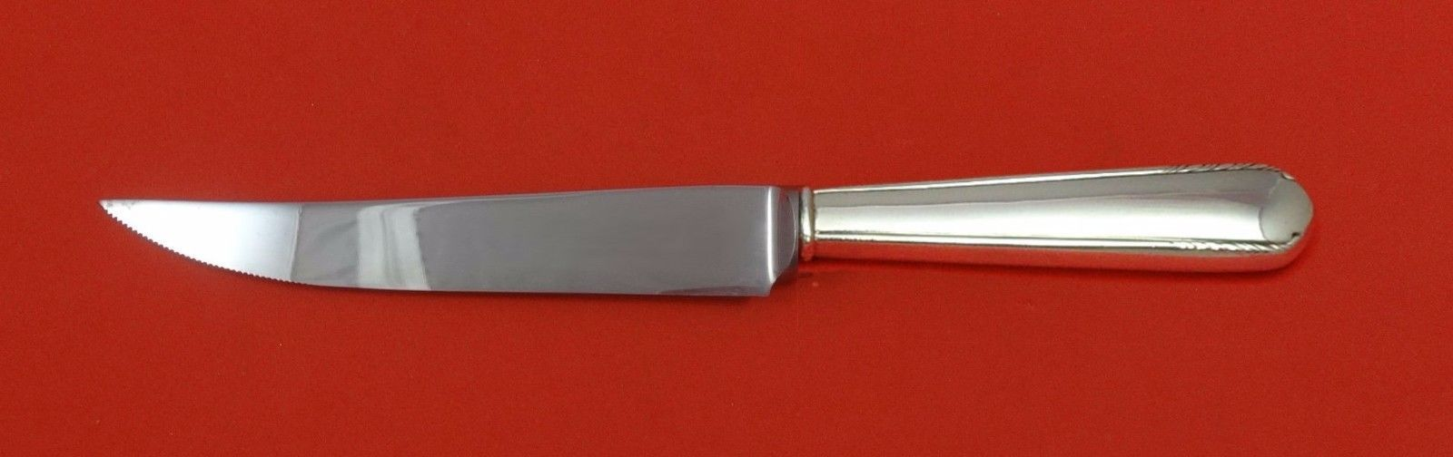 "Silver Stream by Manchester Sterling Silver Steak Knife Serrated Custom 8 1/2"" - $75.05"