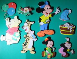 8 Vtg Disney Wall Hangings Mickey Minnie Tigger Winnie Pooh Eeyore Owl W... - $28.70